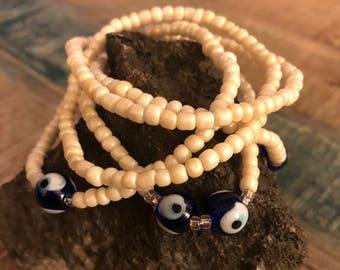 5 Glass eyeball bracelets