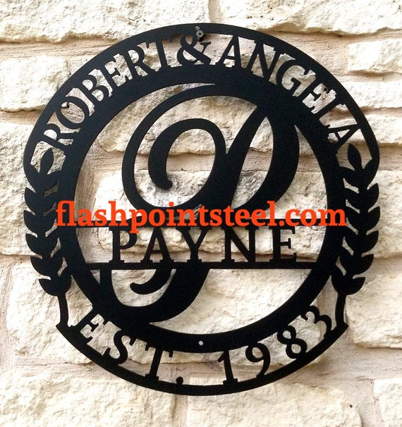 Steel Welcome text sign Metal Wall Art Plaque Home Decor CNC Plasma Cut