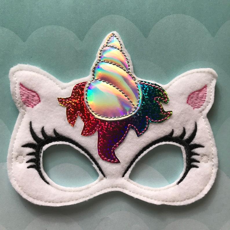 Rainbow Unicorn Felt Mask image 0