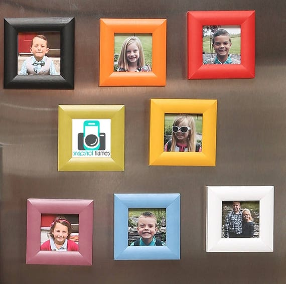 Handmade Decor Wood Magnet Picture Frame Beautiful Vibrant Etsy
