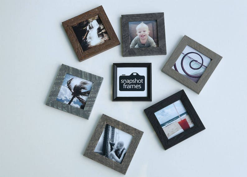 Rustic Barnwood Frame Wall Picture Frame Handmade Frame 4x4 Square Wood Picture Frame Home D\u00e9cor Frame Instagram Picture Frame