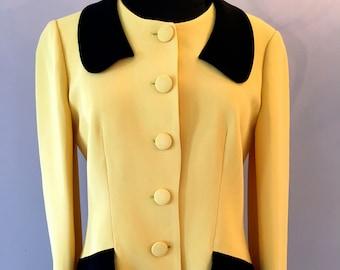 Moschino Cheap and Chic Pale Yellow Crepe Blazer