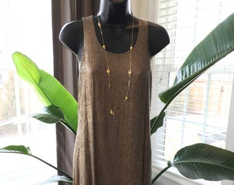 Double D Ranch Matte Gold Sequin A-Line Dress