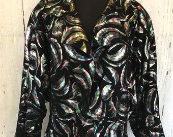 1980s Technicolor Suede Jacket