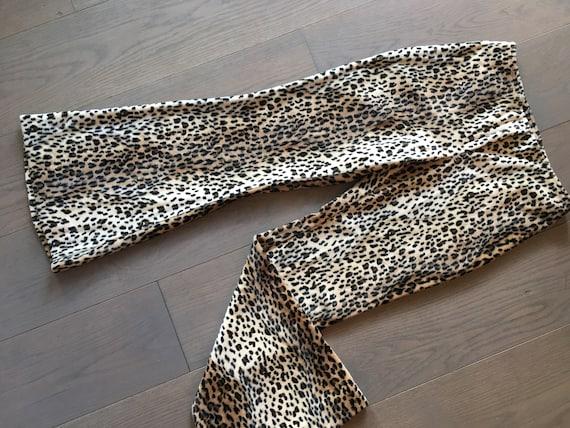1970s Avant Cheetah Print Velveteen Pant - image 5