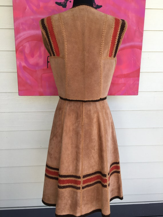 1970s Suede Vest and Skirt - image 9