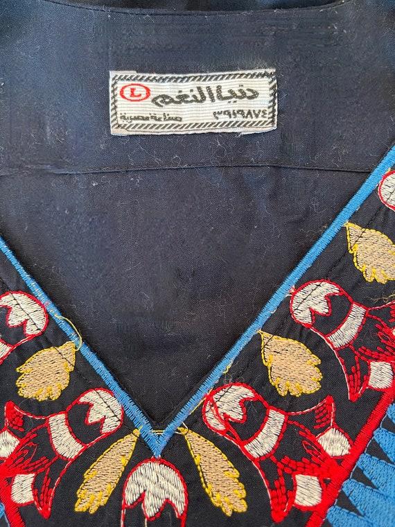 1970s Egyptian Embroidered Kaftan - image 4