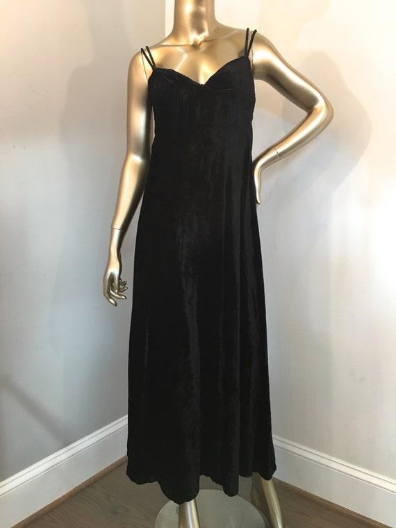 1980s Guess Velvet Slip Dress