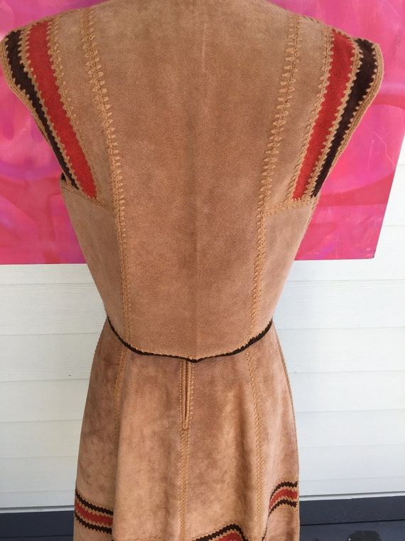 1970s Suede Vest and Skirt - image 10