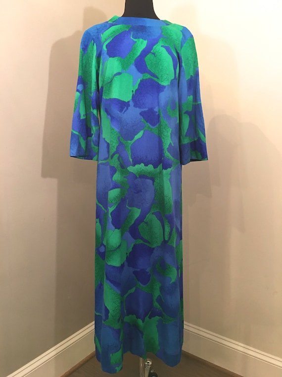 1970s Liberty House Abstract Floral Kaftan