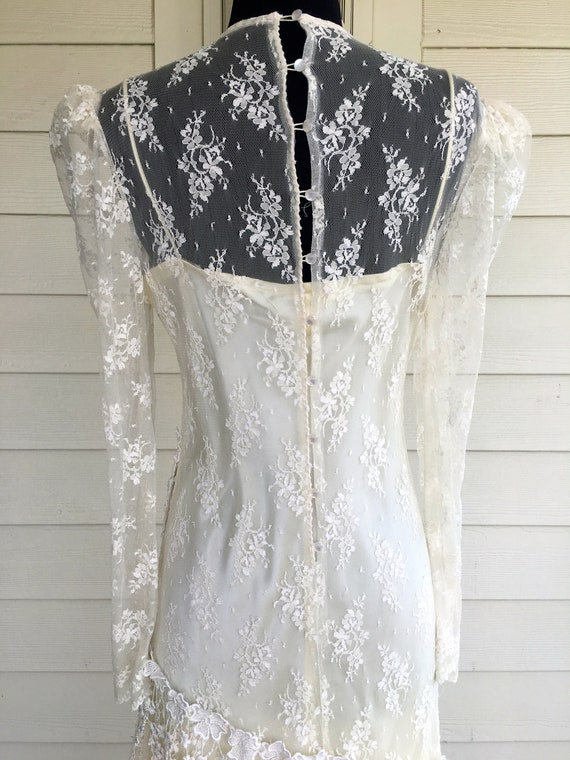 1980s Patra Cream Lace Dress - image 7