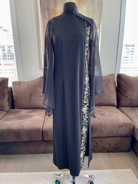 1970s Alfred Shaheen Asian-Inspired Tunic Dress