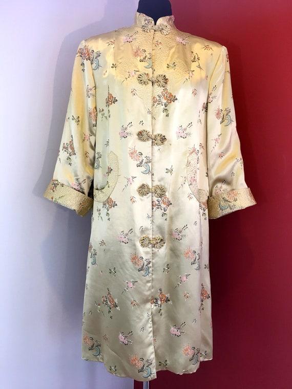 1970s Chinese Gold Coat Dress