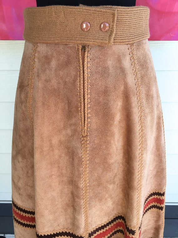 1970s Suede Vest and Skirt - image 5