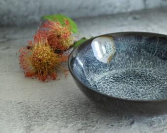 Charcoal&Seaworld Underglaze Salad Bowl | Pottery Bowl | Pasta Bowl | Soup Bowl | Serving Bowl | Ramen Bowl