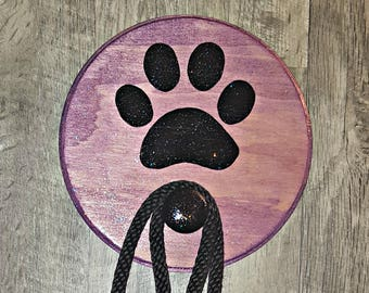 Leash Hanger, Leash Holder, Walk The Dog, Dog Leash Storage, New Pet, Dog,  Puppy, Leash, Pet Gift, Paw Print, Dog Lovers Gift, Pawprint