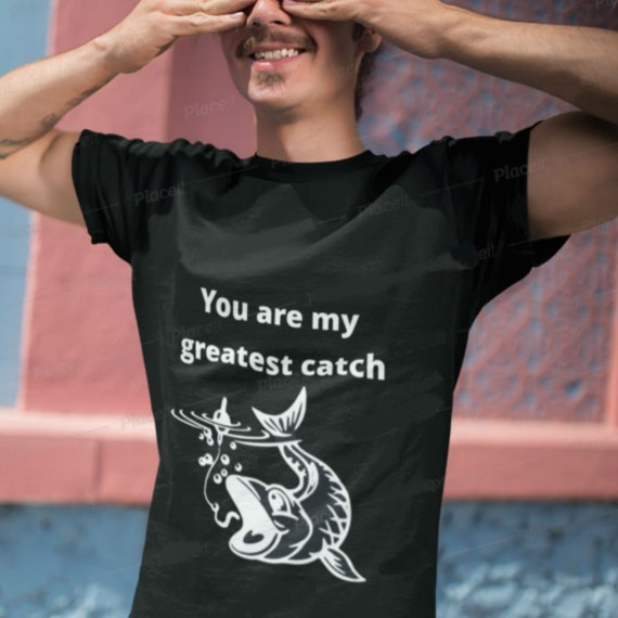 Valentines Day Gift For Him Fishing Gift Funny T Shirt Etsy