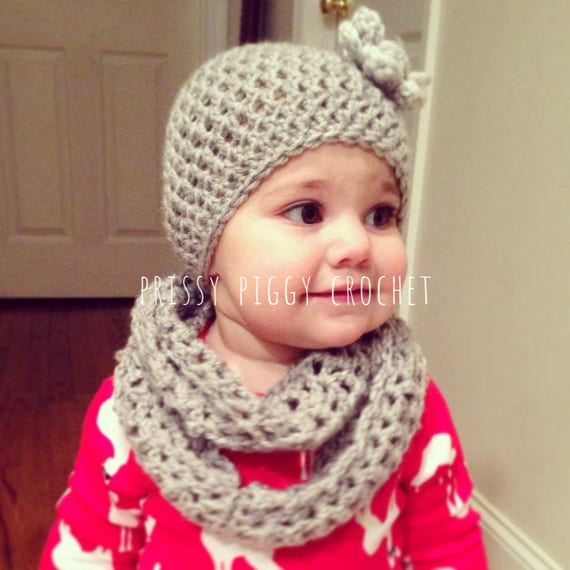 Newborn Toddler Infinity Scarf And Hat Set Etsy