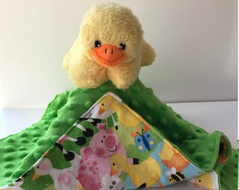 Ultra Plush And Cuddly Little Duck Lovey Blanket