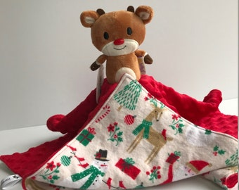 Ultra Plush and Snuggly Rudolph the Red Nosed Reindeer Rudolph Lovey Blanket 2e092582e