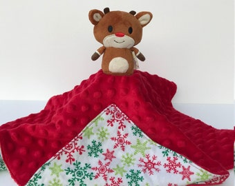 419d5a8135 Ultra Plush and Snuggly Rudolph the Red Nosed Reindeer Lovey Blanket