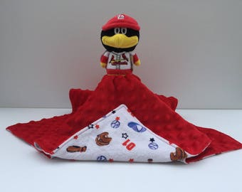 Ultra Plush and Snuggly St. Louis Cardinals Fredbird Lovey Blanket