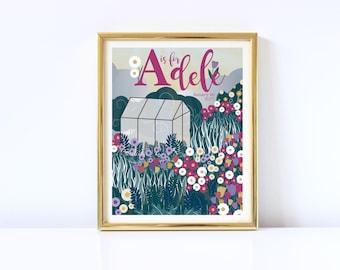 Garden Baby Name Print