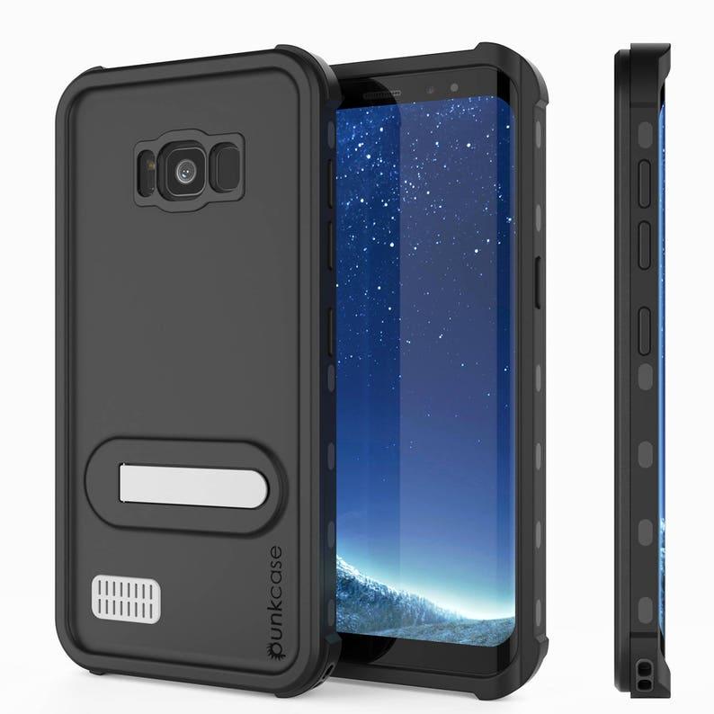 competitive price 7e1e7 badd4 Galaxy S8 Plus Waterproof Case PunkCase StudStar Black Thin 6.6ft  Underwater IP68 Shock/Snow Proof