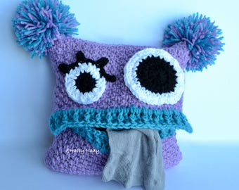 The Pyjama Monster cushion, child, nursery, bed, gift