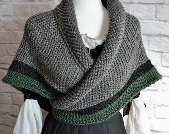 Claire Rent shawl, Outlander shawl, Claire's wrap, Tunisian crochet pattern, Outlander in Canada, Outlander costume, Highland crochet