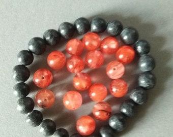 Lot Of 29 Pcs Pink Salmon Quartz Gemstone 8.0 mm Round Beads  Full Drilled