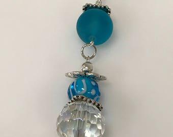 Light Blue Sea Glass Pendant