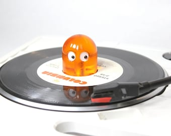 """NEW! Ghost 45 RPM Record Adapter  """"Clear Orange"""""""