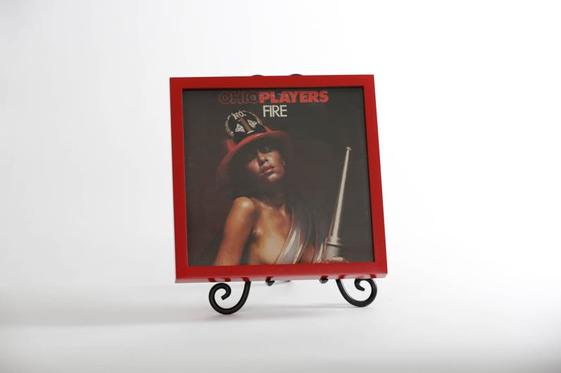 Vinyl Record/Picture Frame Gloss Apple Red image 0