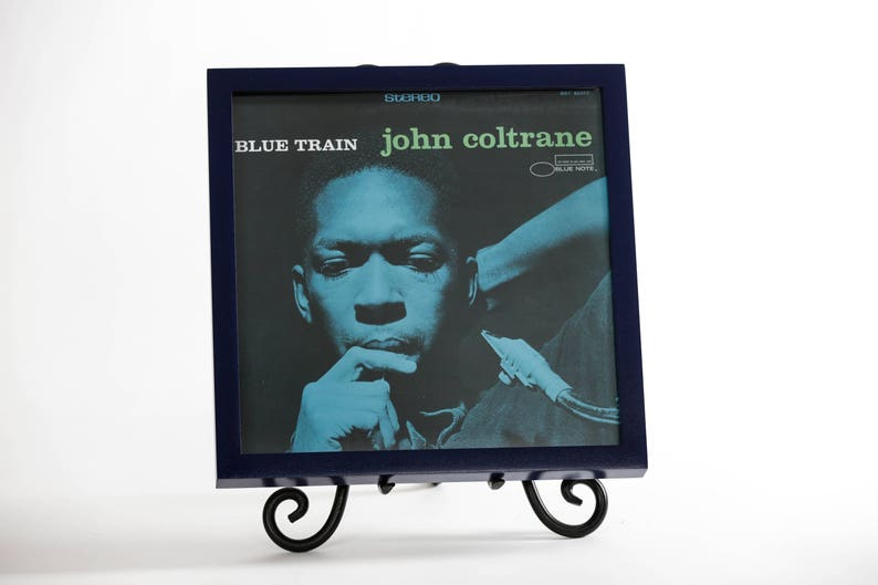 Vinyl Record/Picture Frame Gloss Navy Blue image 0