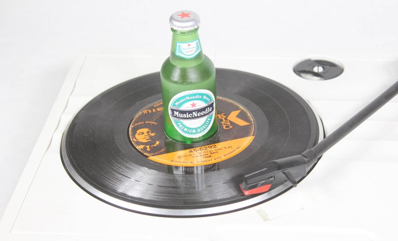 Beer Bottle 45 RPM Record Adapter image 0