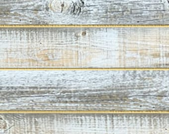 Nickel Gap Board Milled from Reclaimed Snow Fence Wood - Sundance-White Finish