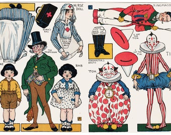 Paper Doll Set 1 from The Magic Circus by Violet Moore Higgins