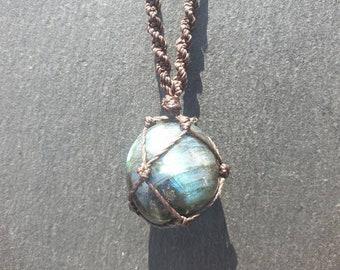 Raw Labradorite Long Beaded Necklace Labradorite Bears Labradorite Jewelry Gifts for Her