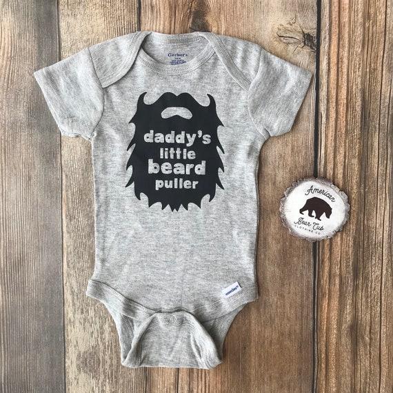 tee Funny Bearded Unisex Sweatshirt Daddy/_s Little Beard Puller