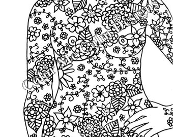 eating disorder recovery printable adult coloring page | Etsy