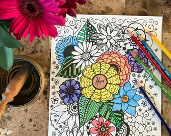 hope inspirational printable adult coloring page