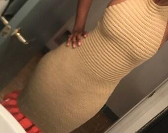 Crochet Dress- Ruffle Hem (DEENA)