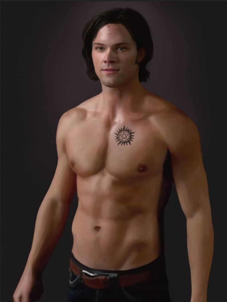 Sam Winchester Supernatural Anti-Possession Tattoo Ultra Soft Plush Fleece Blanket