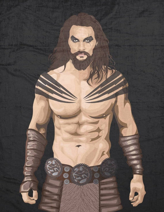 Khal Drogo, Jason Momoa, Soft Plush Fleece Blanket