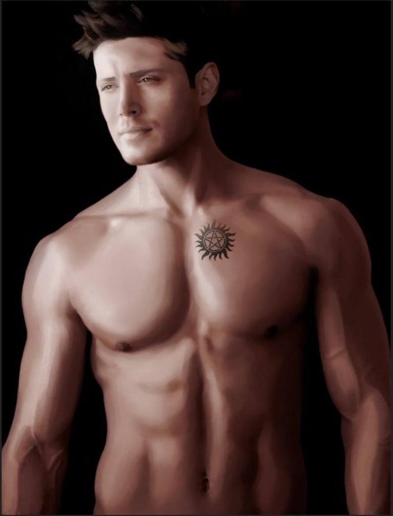 Dean Winchester Supernatural Anti-Possession Tattoo Ultra Soft Plush Fleece Blanket