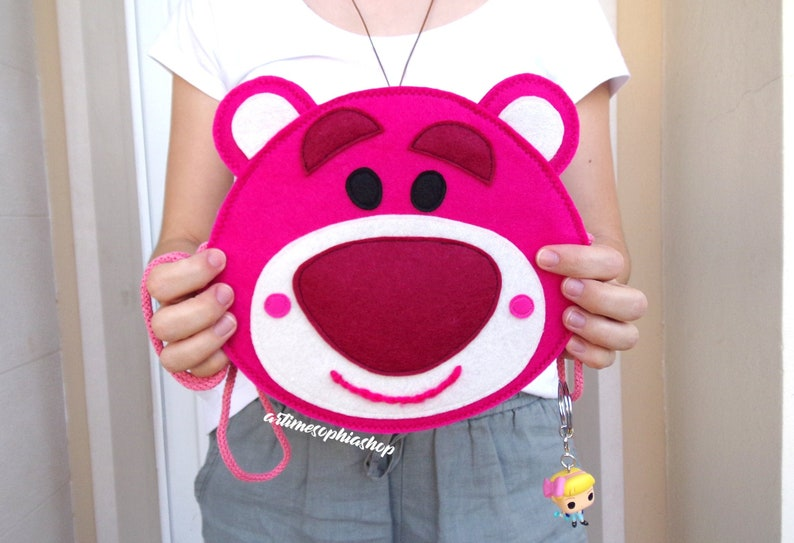 Strawberry scented Disney Toy Story Lotso Wallet Purse Toy image 0