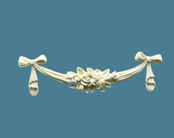 Rose Bud  Swag - Furniture Moldings - FREE SHIPPING USA and New Zealand