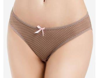 Polka-Dots Bikini Panties / 6-Pack