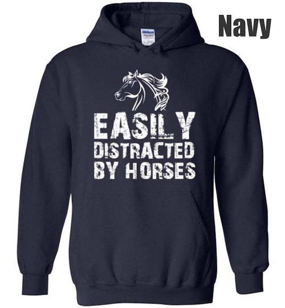 Sweatshirt Cheval Hoodies Etsy Par Distrait Facilement Uf6q5wfW
